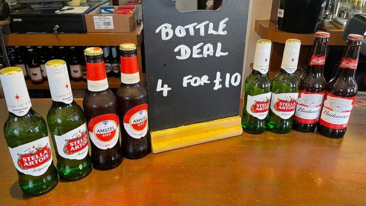 Premium Bottle Offer Any 4 for £10